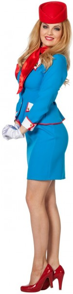 Blaues Stewardess Kostüm Betty