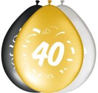 8 edle Ballons zum 40. Geburtstag