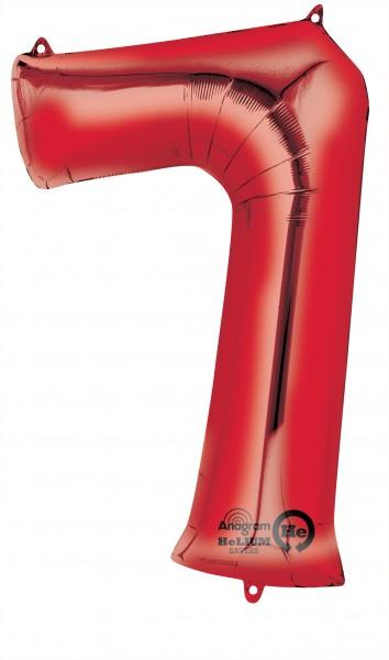 Zahlenballon 7 Rot 88cm
