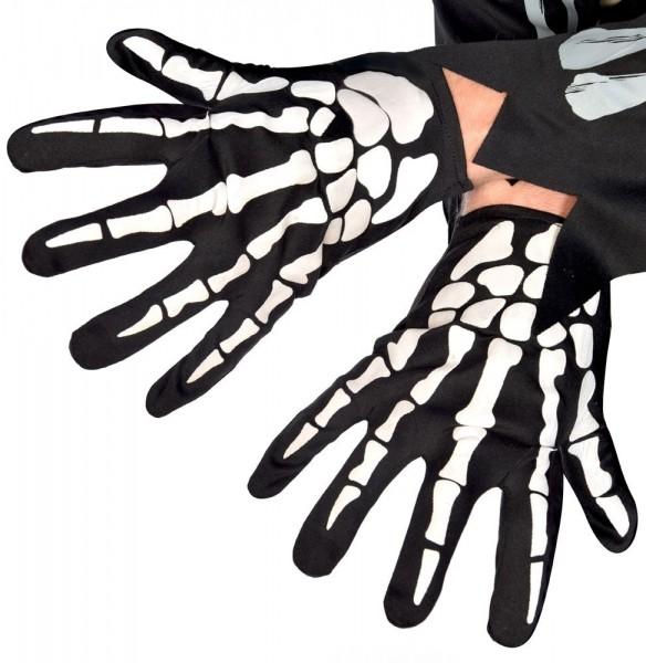 Skelett Handschuhe für Erwachsene