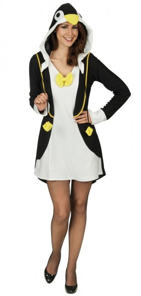 Penguin Costume With Head Hood For Ladies