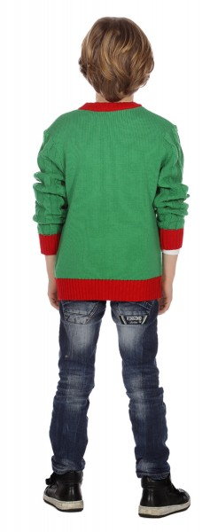 Christmas cardigan green for children