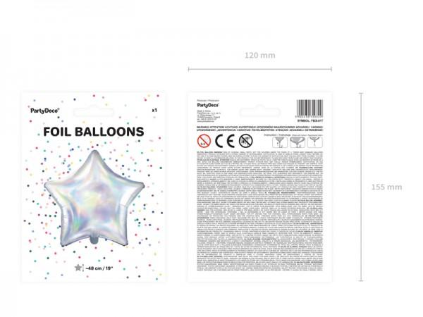 Ballon étoile scintillante 48cm