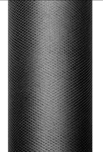 Tüll Stoff Luna schwarz 20m x 8cm