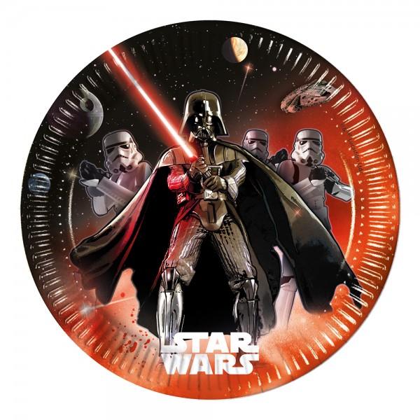 8 Star Wars Lichtschwert Pappteller 23cm