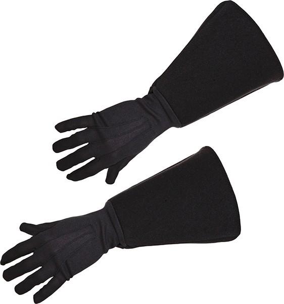 Schwarze Musketier Handschuhe