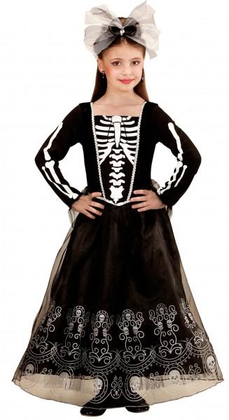 Déguisement squelette dame Alma enfant