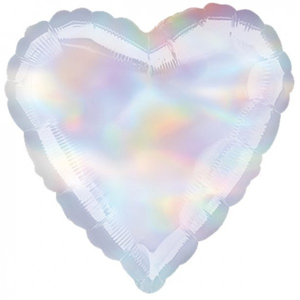 Mother-of-pearl heart foil balloon Shiny 46cm