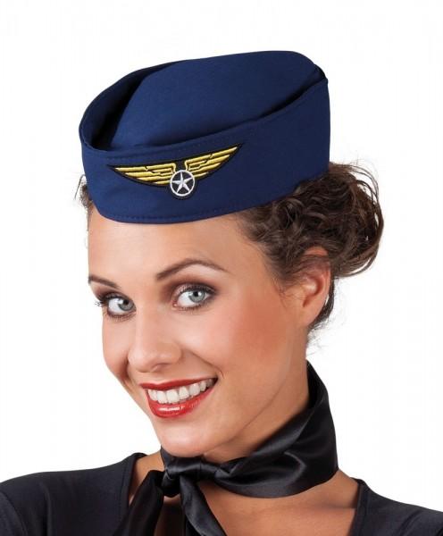 Stewardessen Schiffchen blau