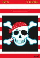 8 Piraten Party Geschenktüten 22,8x16,5cm
