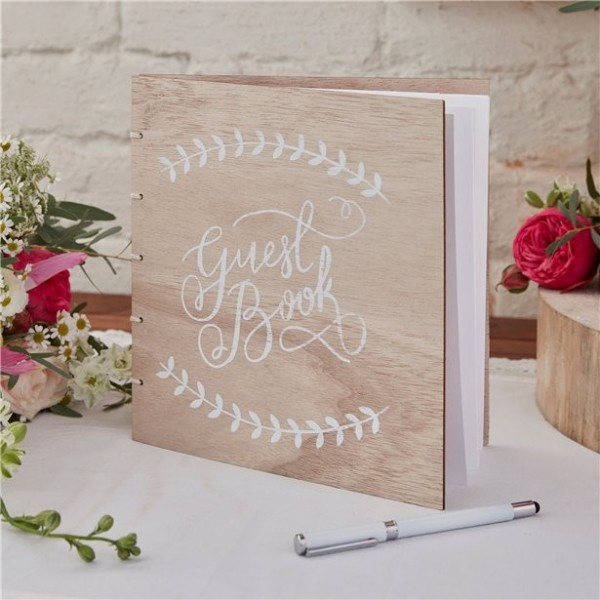 Rustic Wedding Gästebuch 21,5cm