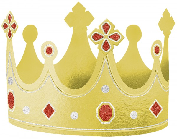 Königliche Krone aus Folie