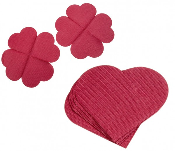 Heart napkins Sweet Kiss 25 x 25cm