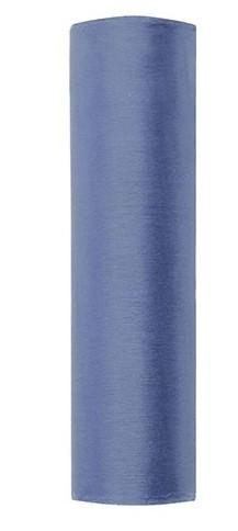 Organza Stoff Julie dunkelblau 9m x 16cm