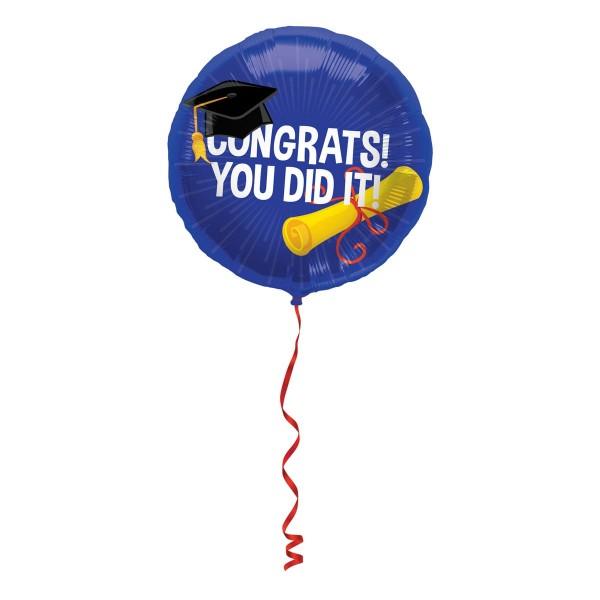 Abschluss geschafft Folienballon 45cm