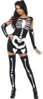 Verführerisches Skelett Kostüm