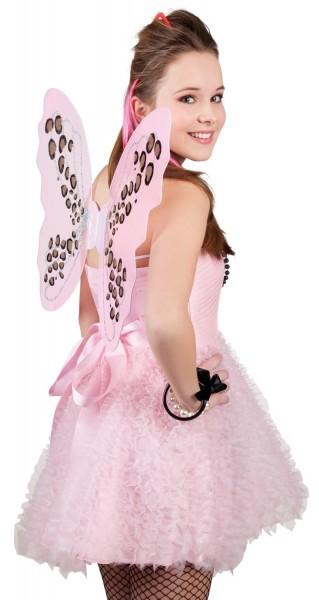 Rosa Schmetterlings Flügel 1