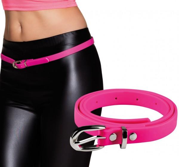 Dünner Neon Gürtel Pink