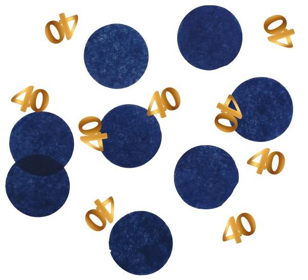 Confettis 40e anniversaire 25g Bleu élégant