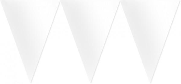 Hvid havefest vimpelkæde 4,5m