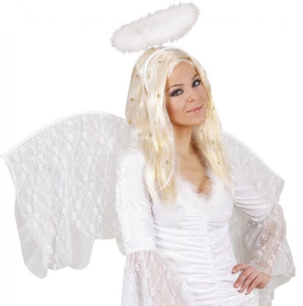 Parrucca di angelo con stelline oro