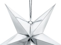 Hanging Star Decoration Silver 30cm