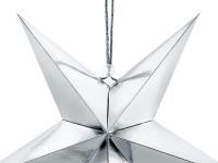 Spiegelnder Papierstern in Silber 30cm