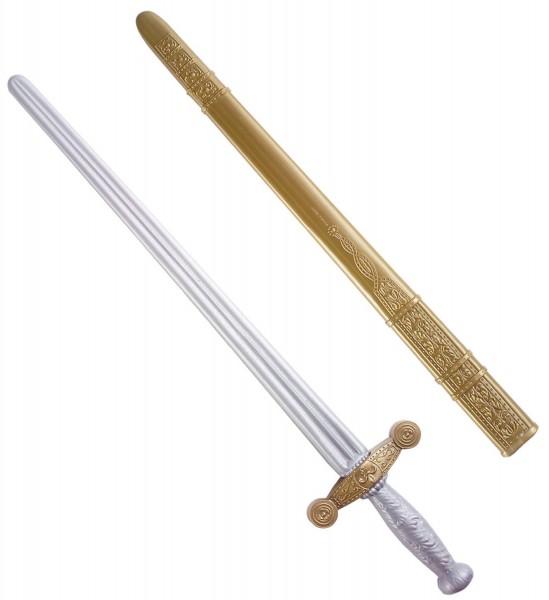 Silber-Goldenes Ritterschwert 75cm