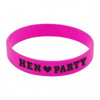 Ladies Night Hen Party Gummi Armaband Pink