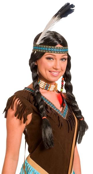 Perücke Indianerin Blauer Adler