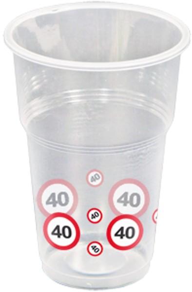 10 panneaux de signalisation 40 tasses 350ml