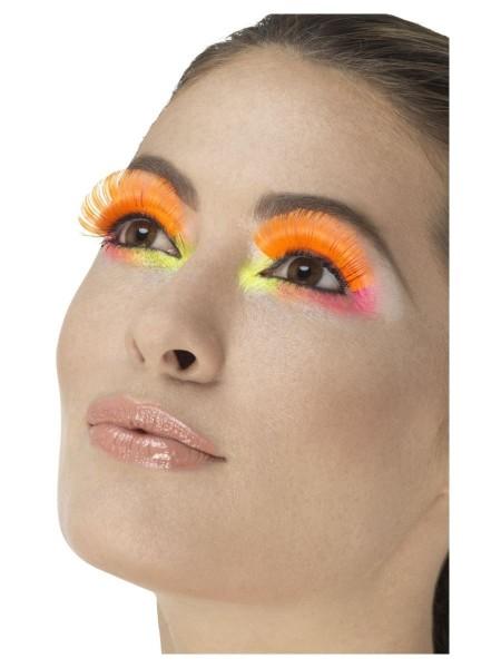 80er Jahre Neon Wimpern orange