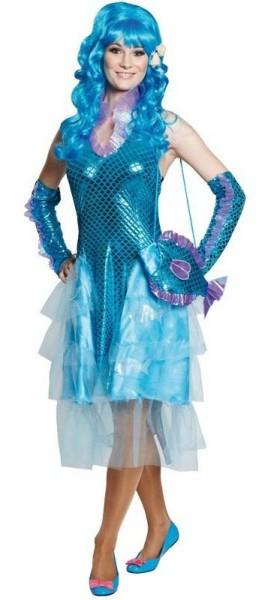 Blaues Meerjungfrauenkostüm Isabelle Für Damen