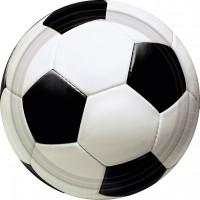 8 Runde Pappteller Partytime Soccer 23cm