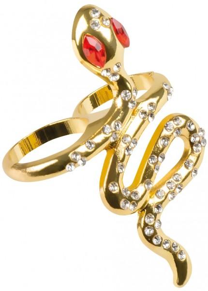 Goldener Kleopatra Schlangen Ring