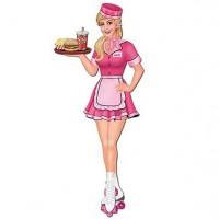 American Diner Kellnerin Aufsteller 89cm