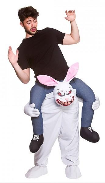 Zombie bunny piggyback costume