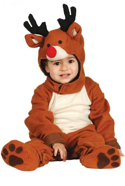 Disfraz de reno pequeño para bebé