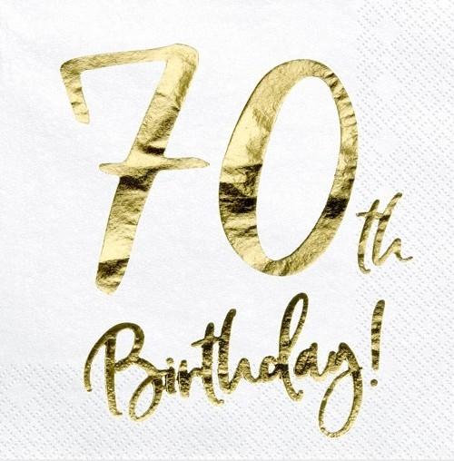 20 Glossy 70th Birthday Servietten 33cm