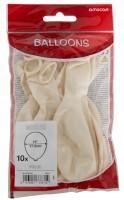 10 Weiße Perlmutt Ballons Partydancer 27,5cm