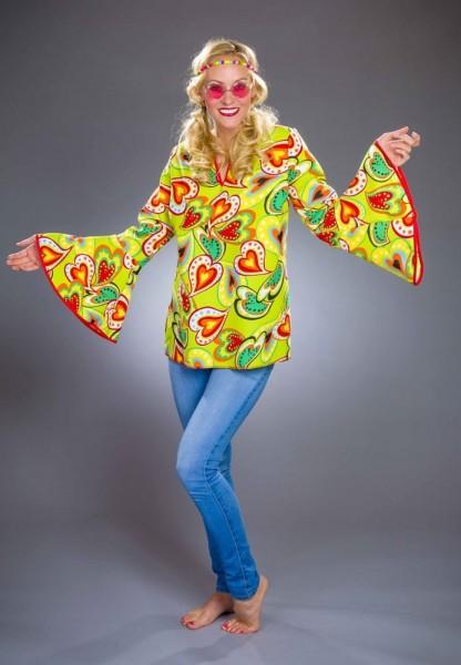 Herzblatt Hippie Damenbluse 1