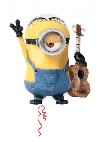 Ballon aluminium Minion Stuart avec guitare