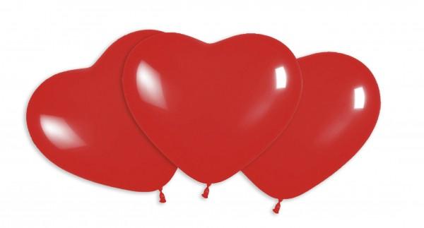 13 petits ballons coeur d'amour rouge 12cm