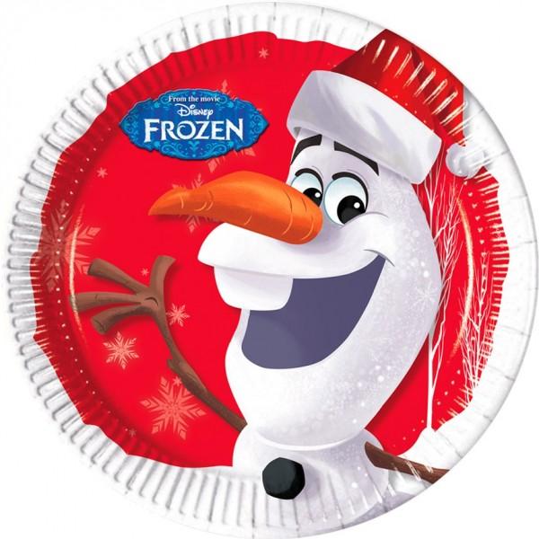 8 Olafs Weihnachtswunder Pappteller 23cm
