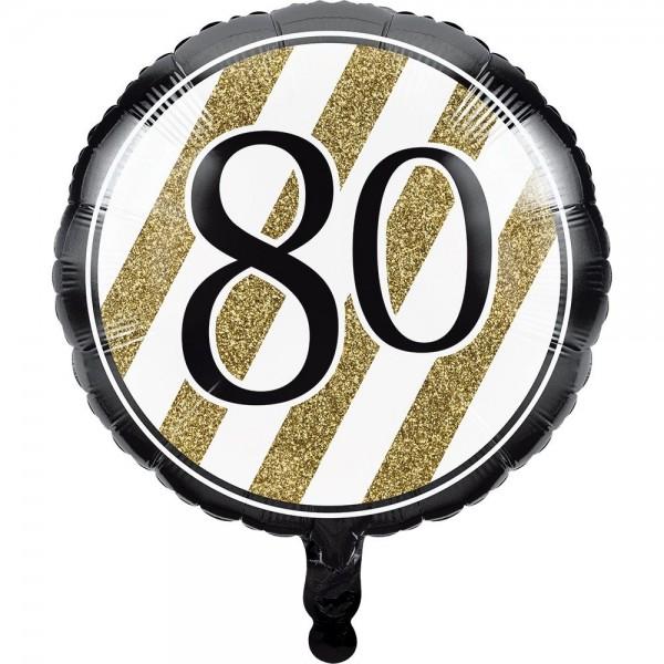 Ballon en aluminium magique 80e anniversaire 46cm