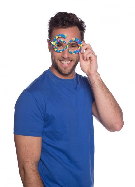 Party glasses 60th birthday blue