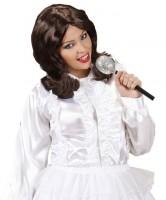 Braune Kultband Popstar Damenperücke
