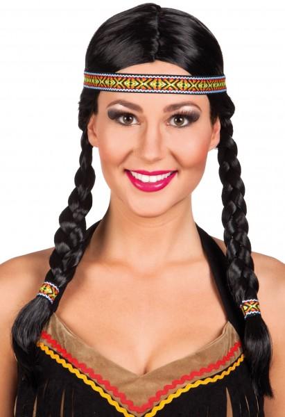 Indianer Perücke Mit Ethno Stirnband