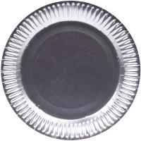 8 Silber Metallic Einwegteller 23cm