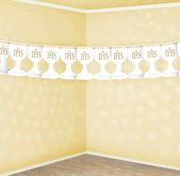 Papiergirlande Kommunion IHS 3m